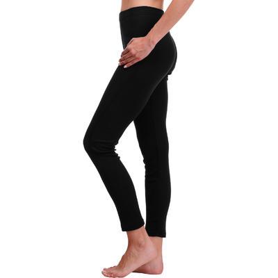 מכנסיים תרמים פשוטים לסקי נשים - שחור