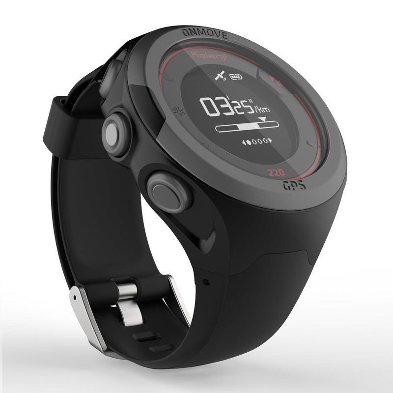 Montre GPS de running ONMOVE 220 NOIRE ET ROUGE