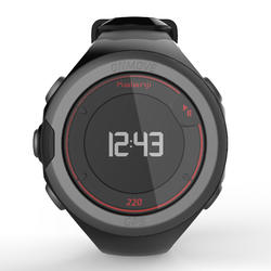 Reloj GPS para atletismo ONMOVE 220 NEGRO ROJO