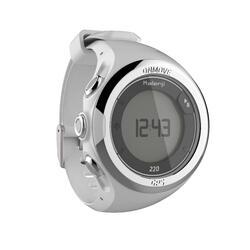 Reloj GPS Running Kalenji Onmove 220 BLanco/Gris Claro