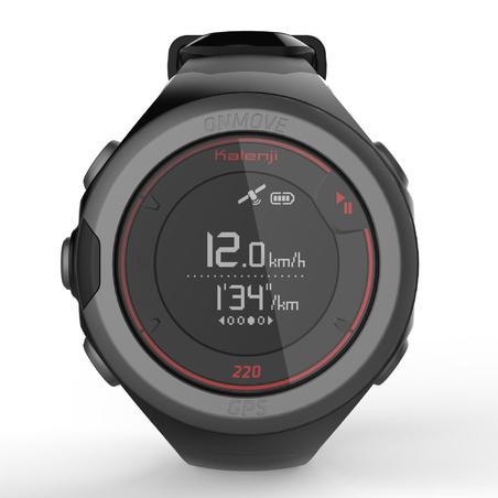Reloj GPS Running Kalenji Onmove 220 Negro/Rojo