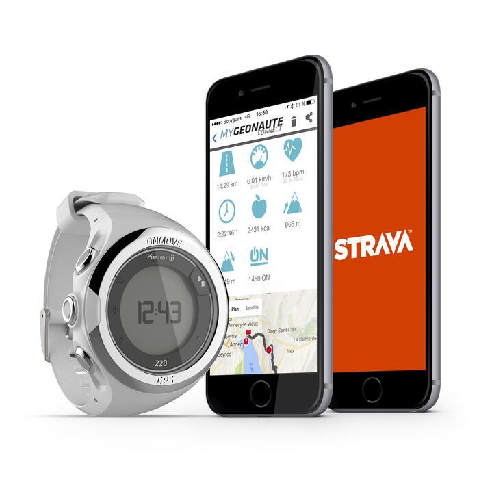 Montre GPS de running ONMOVE 220 NOIRE ET - 1286536