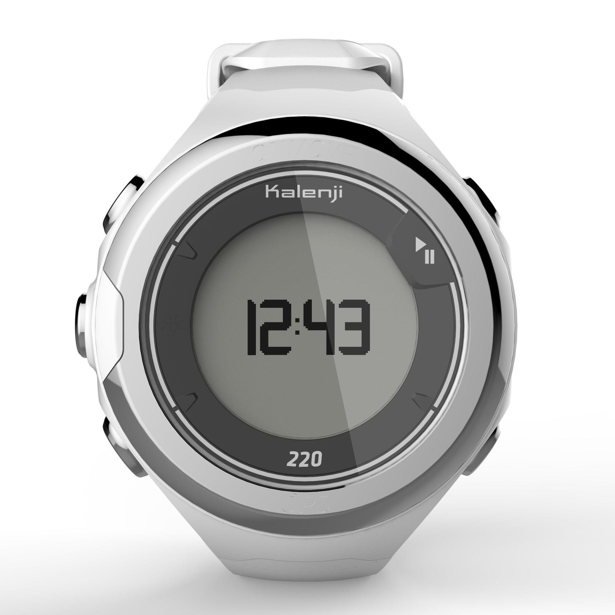 Montre GPS de course à pied ONMOVE 220 BLANCHE