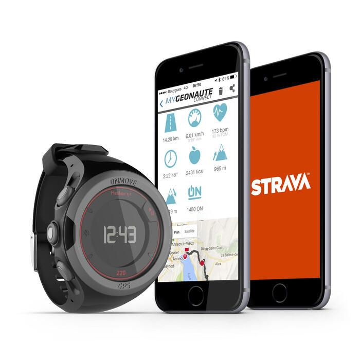 Montre GPS de running ONMOVE 220 NOIRE ET - 1286541