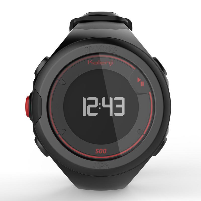 นาฬิกาจับเวลาขณะวิ่งรุ่น ONmove 500 GPS พร้อมระบบวัดอัตราการเต้นของหัวใจที่ข้อมือ (สีดำ)
