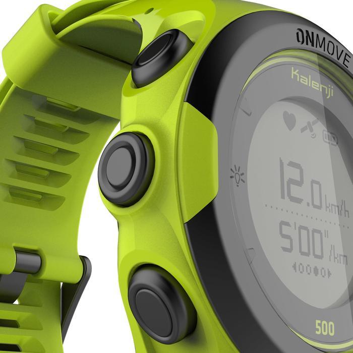 Montre de running GPS et cardio au poignet ONmove 500 jaune