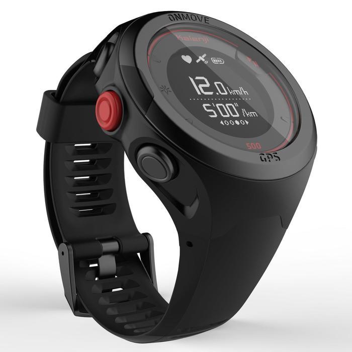 Reloj de running GPS y pulsómetro en muñeca ONmove 500 negro