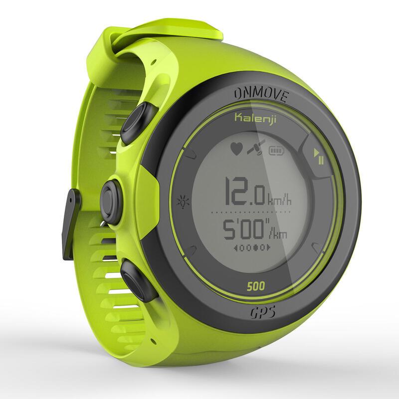 ONmove 500 GPS running watch and wrist heart rate monitor - yellow