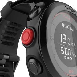 Gps-horloge voor running en hartslagmeting aan de pols ONmove 500 zwart