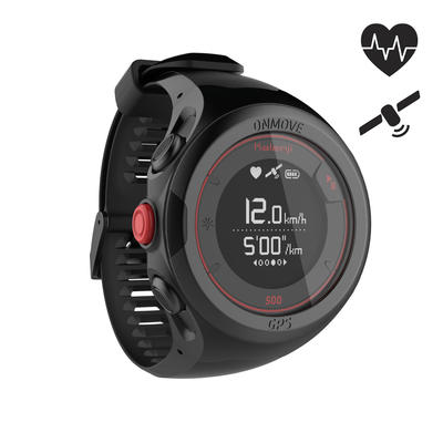 6096ebd4c ساعة جري رياضية - أسود ON MOVE 500 GPS