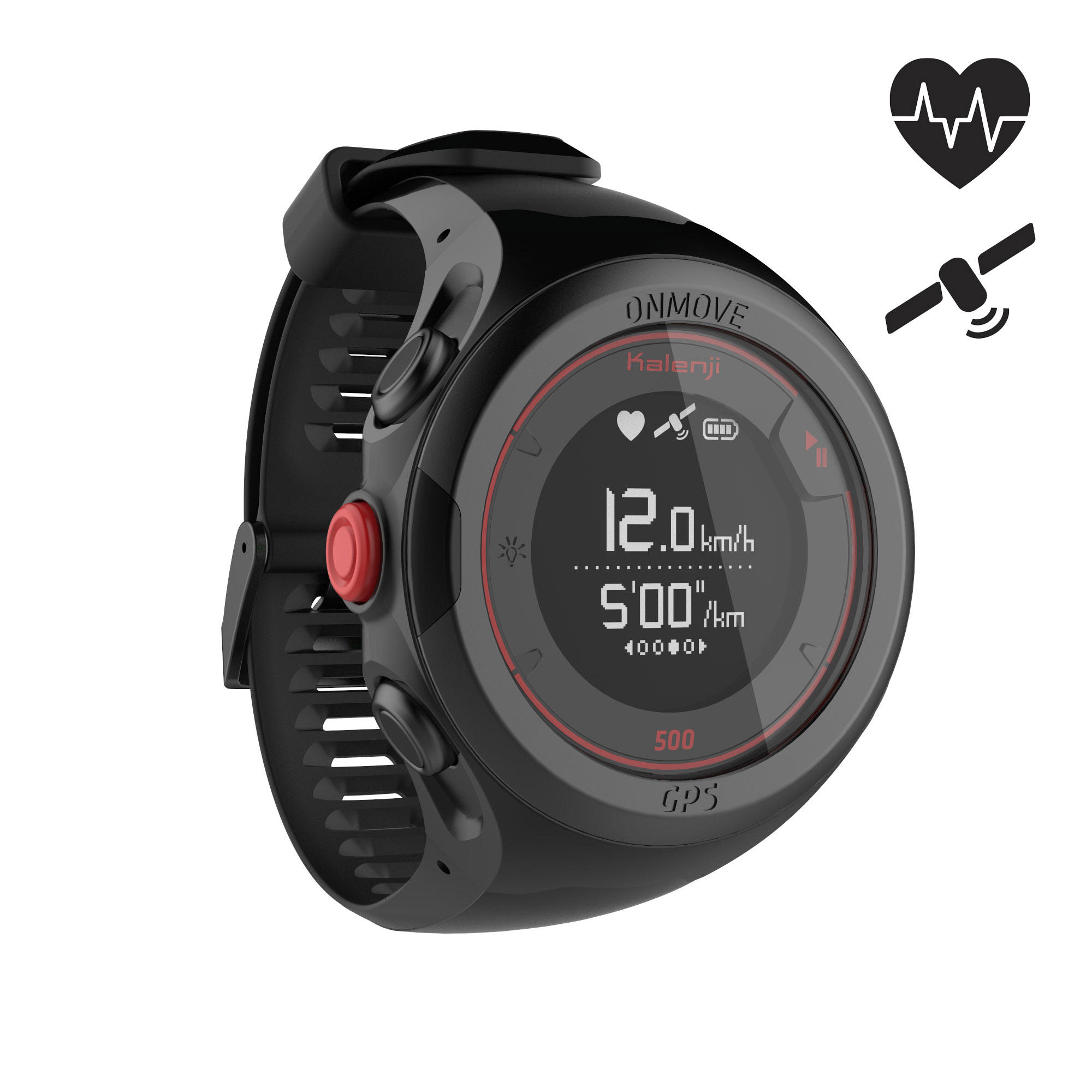 ONMOVE 500 GPS Cardio Running Watch - Black