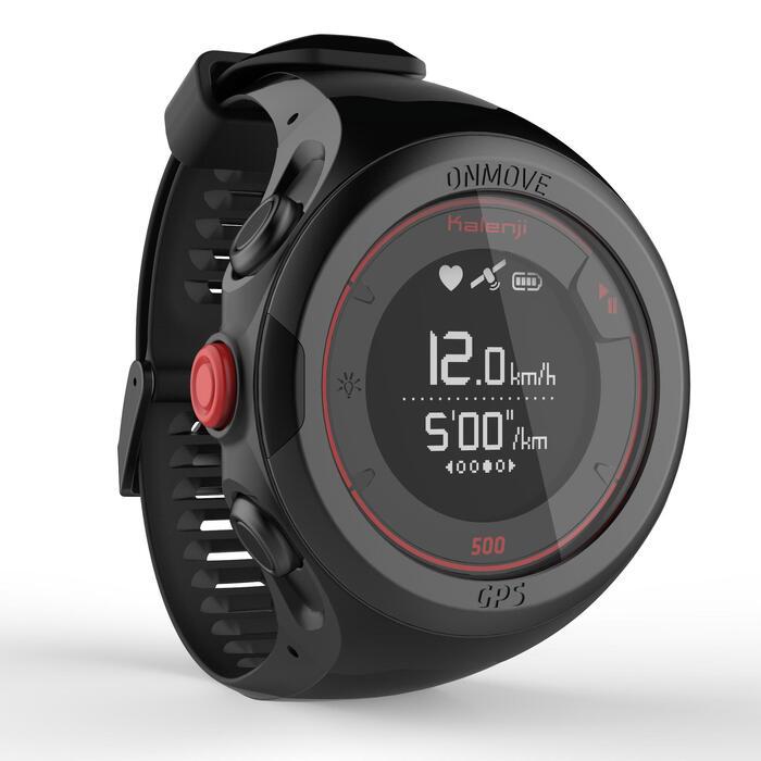 Montre de running GPS et cardio au poignet ONmove 500 noire