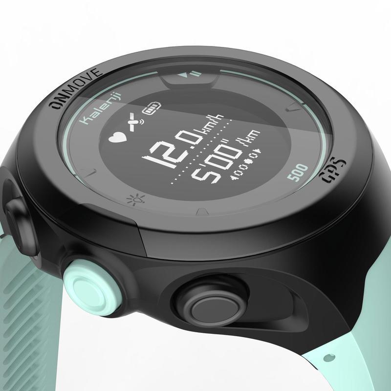 Đồng hồ ONmove 500 Connected GPS với vòng tay đo nhịp tim - Đen/ Xanh lá cây
