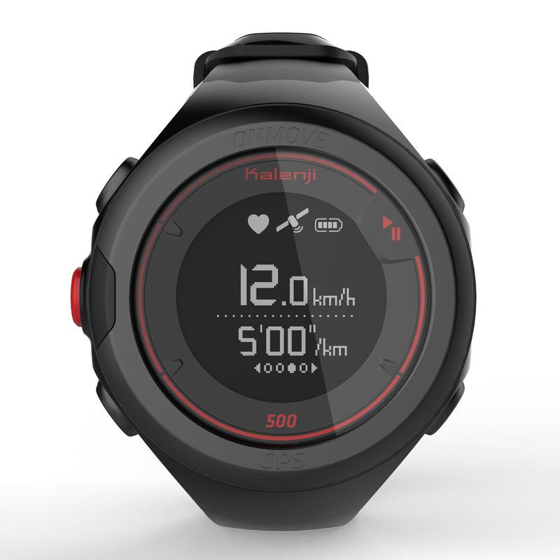 Đồng hồ định vị GPS kết nối ONmove 500 với dây đeo HRM - Đen