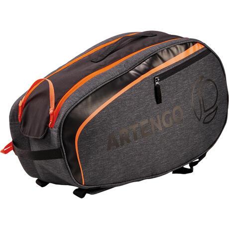 petit sac sports de raquettes artengo sb 130 gris et orange artengo. Black Bedroom Furniture Sets. Home Design Ideas