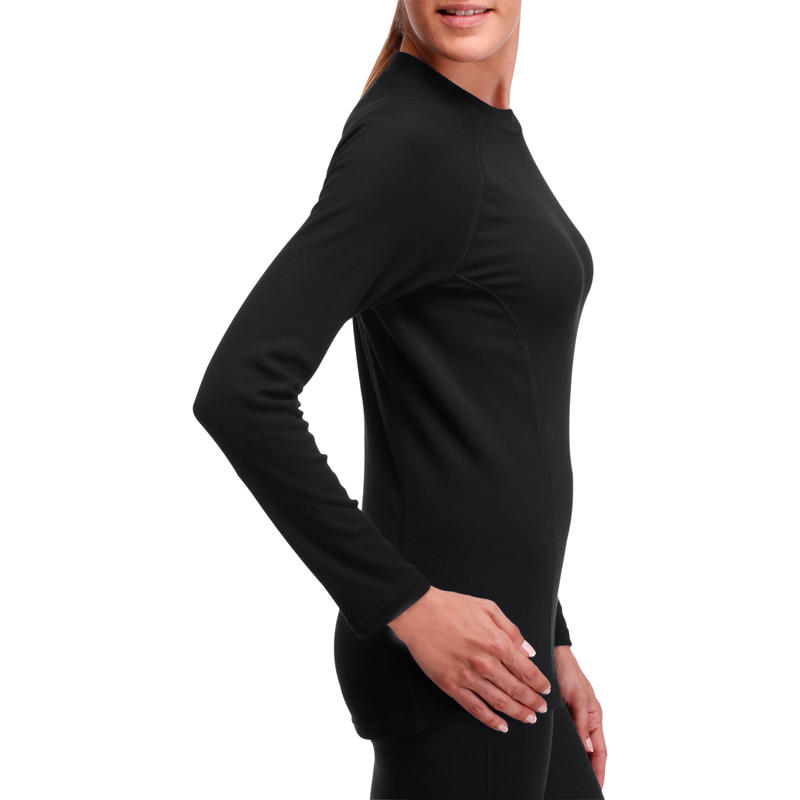 Simple Warm Women's Ski Base Layer - Black