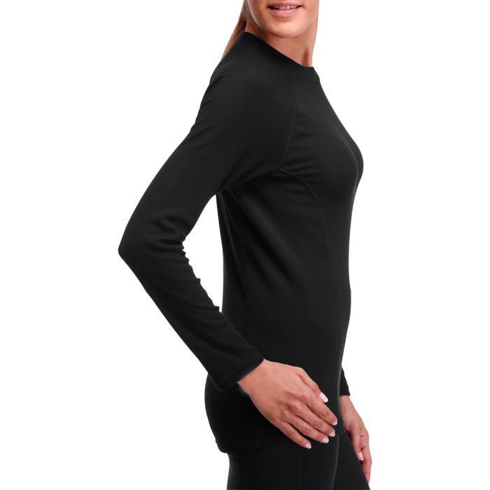 Camiseta Térmica Esqui y Nieve Wed'ze 100 Interior Mujer Negro