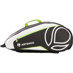 Sporttas voor rackets Artengo LB 930 zwart/wit/geel