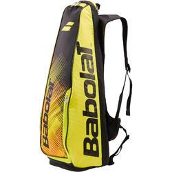 Tennistasche Black Fluo Yellow Sporttasche für 2 Schläger schwarz/gelb