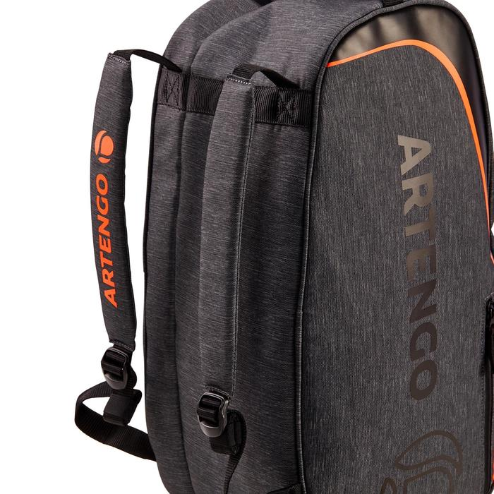 Kleine tas racketsport Artengo SB 130 grijs en oranje