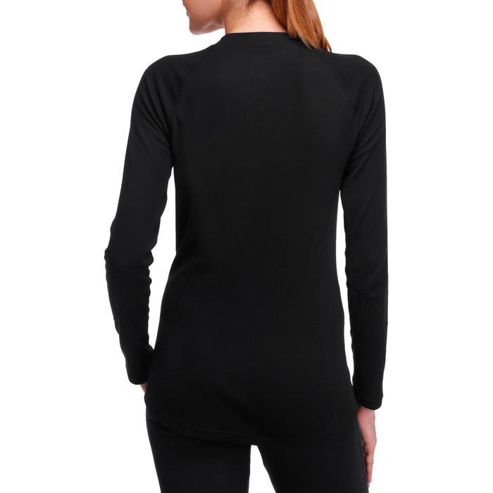 Camiseta interior de esquí mujer 100 negra