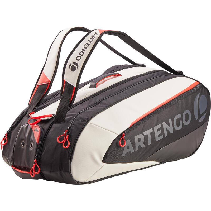 Tenisová taška na 12 raket 960 L černo-bílo-červená
