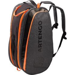 PETIT SAC SPORTS DE RAQUETTES ARTENGO SB 130 GRIS ET ORANGE