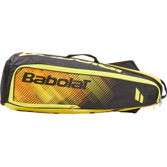 Sporttas racketsporten Babolat zwart fluogeel 2R