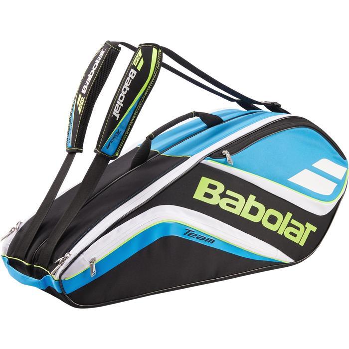 Tennistasche Team für 9-Schläger blau/gelb