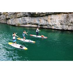 "Tabla De Stand Up Paddle Hinchable de Travesía Itiwit 500 / 12,6'-29"" Naranja"