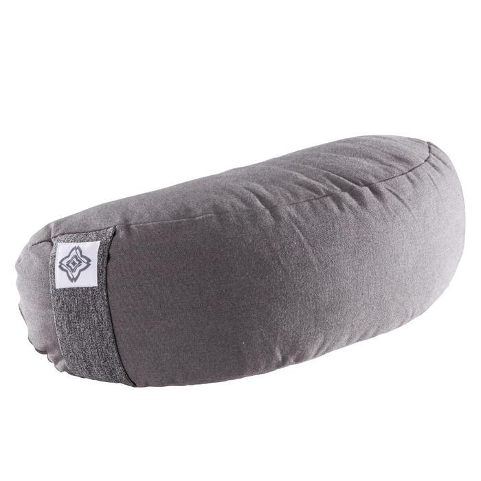Zafu coussin yoga / méditation gris , coton issu de l'agriculture biologique. - 1286795