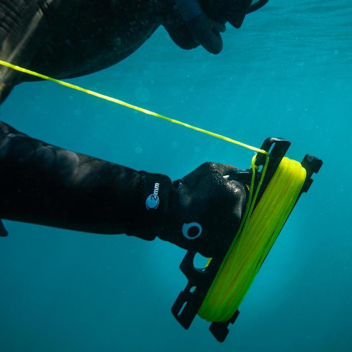 Enrolador de cabo flutuante para bóia sinalização de caça submarina SPF 500