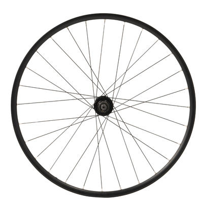 """Rueda Bicicleta Polivalente 28"""" Pulgadas Trasera Doble Pared Negro"""