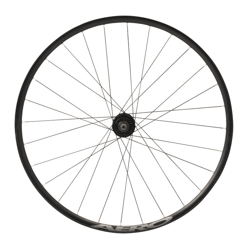 Wheel 28_QUOTE_ Front Double-Walled Rim Disc Brake Hybrid Bike - Black