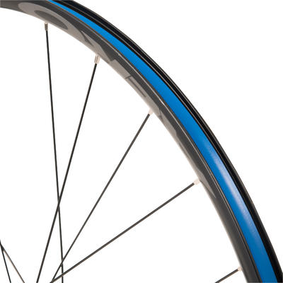"Rueda Bicicleta Polivalente 28"" Pulgadas Delantera Doble Pared Negro"