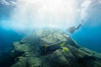 Lexique de la plongée, snorkeling (randonnée palmée)