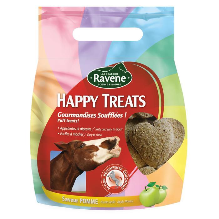 Friandises équitation cheval et poney HAPPY TREATS pomme - 200 gr - 1287259