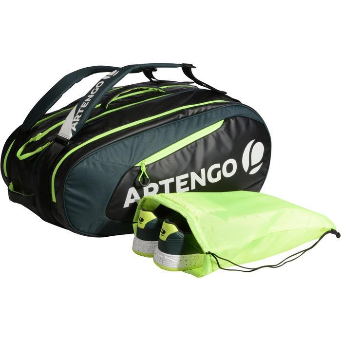 Tas voor racketsporten Artengo SB 190 zwart en kaki