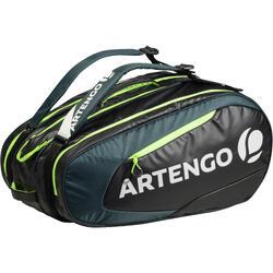 Sporttas voor rackets Artengo SB 190 zwart/kaki