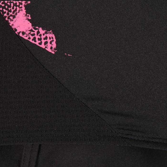 Cardiofitness top 120 voor dames zwart met print Domyos