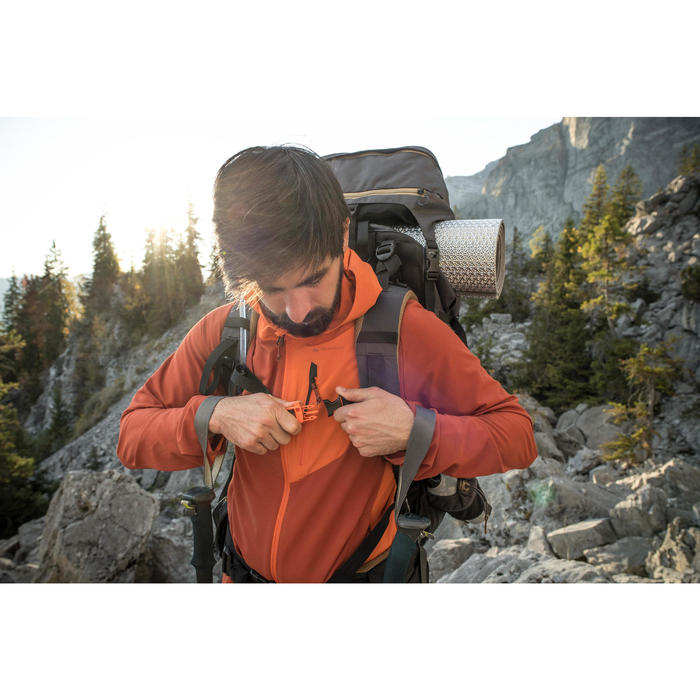 Bergsport rugzak voor heren Trek 900 90+10 kaki