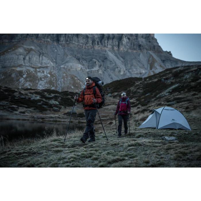 Regenbroek voor bergtrekking heren Trek 500 donkergrijs
