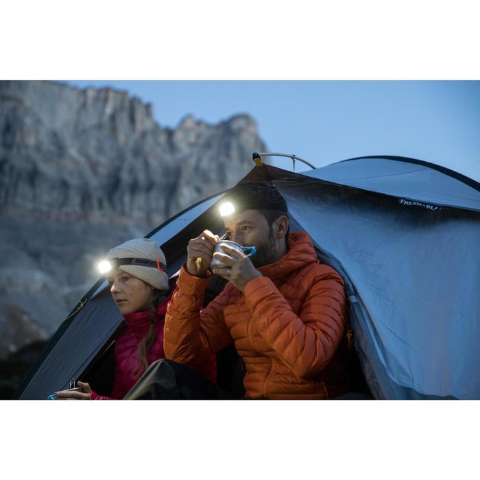 登山健行頭燈ONNIGHT 100 80流明(電池款)-黑色