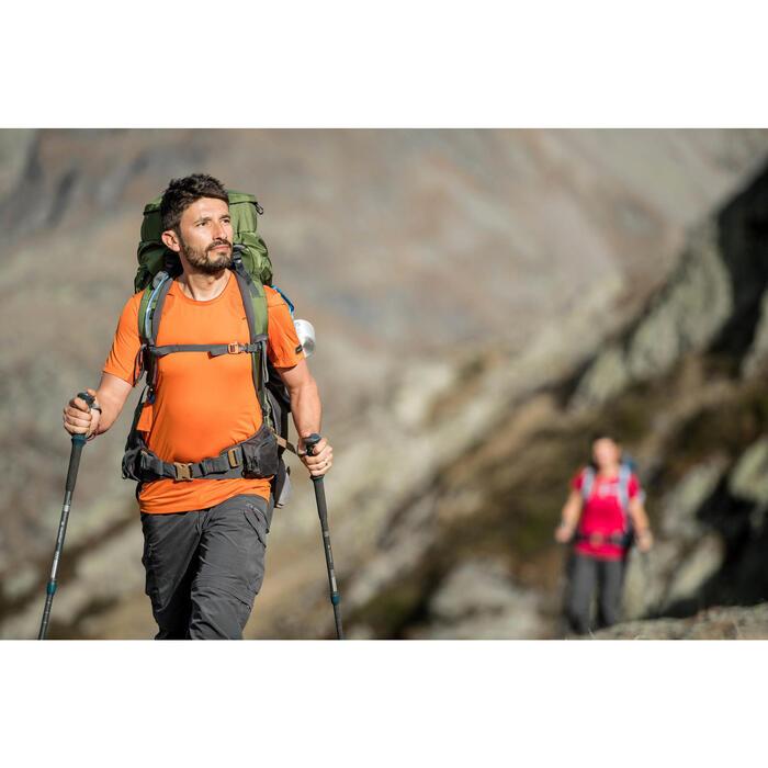 Herenshirt met korte mouwen voor bergtrekking Trek 100 grijs