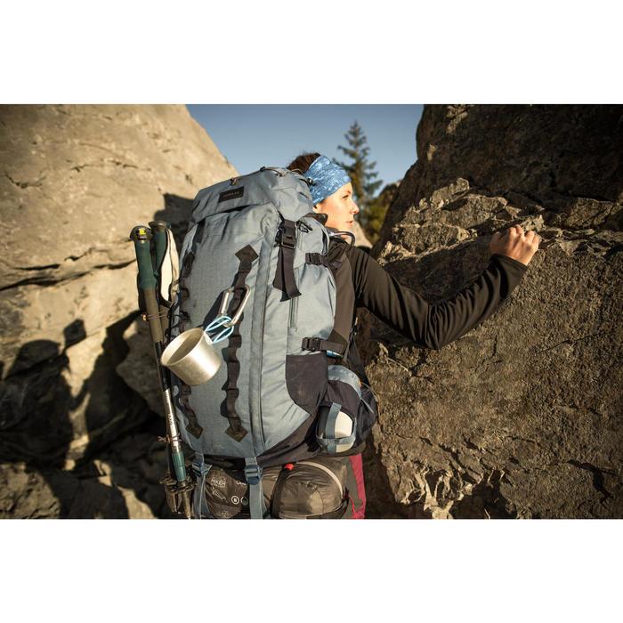 Sac à dos montagne TREK 900 50+10 femme bleu - 1287464