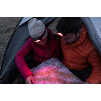 Hoofdlamp trekking ONnight 100 rood - 80 lumen