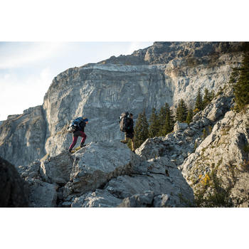 Pantalon trekking montagne TREK900 femme bordeaux