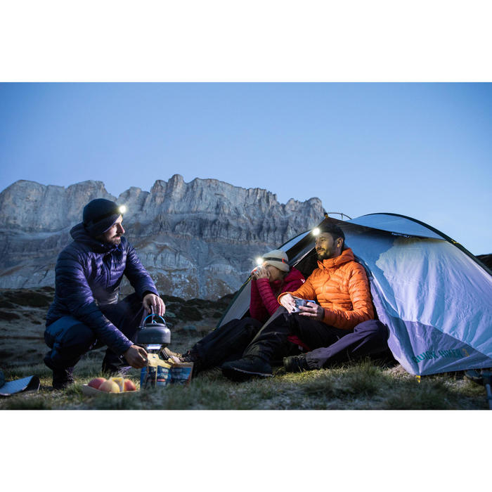 Hoofdlamp op batterijen voor trekking ONNIGHT 100 zwart 80 lumen