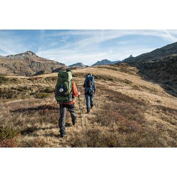 Pantalón Lluvia Impermeable Montaña Senderismo Forclaz Trek500 Hombre Negro