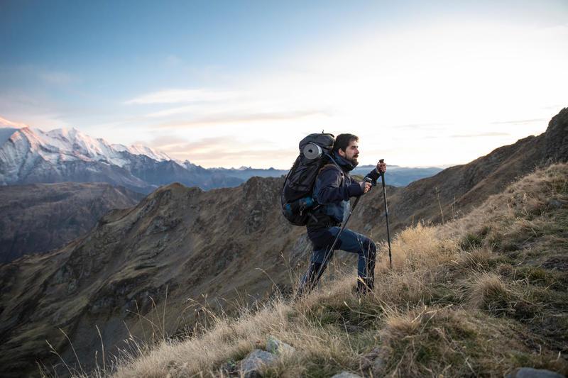 Men's Mountain Trekking waterproof Jacket Trek 500 - Blue